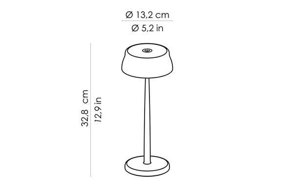 plan des dimensions de la lampe sister light de chez zafferano